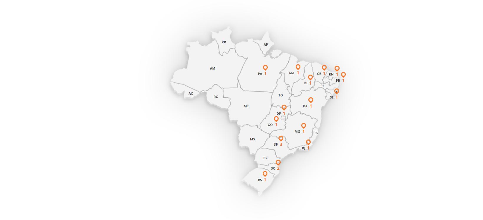 Mapa de Lojas Fit4 Store